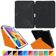 roocase Origami 3D Slim Shell Case for Galaxy Tab 4 10.1 Granite Black & Roocase Orange