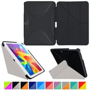 "rOOCASE Origami Polyurethane Folio Smart Case Cover for 10.1"" Samsung Galaxy Tab 4, Granite Black/Cool Gray"