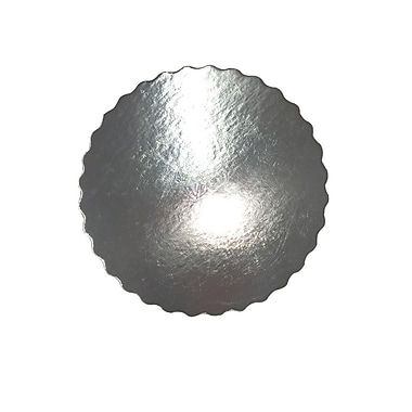045-10Rss Cake Board 10 Inch .045 Enjay Round Silver Scallop Edge 250/Case