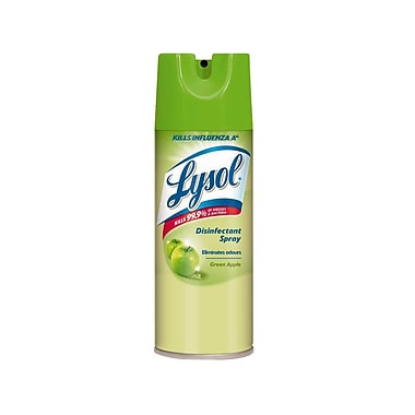 Lysol Disinfectant Sprays, Green Apple Scent, 350 g., 12/Case