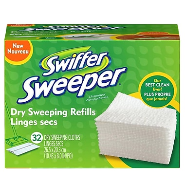 Swiffer Sweeper – Linges secs de rechange, blanc, 32/bte
