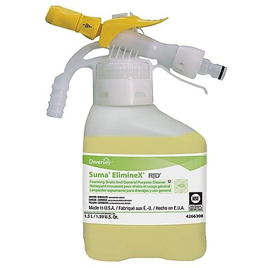 Diversey Suma Eliminex Foam Drain Cleaner, 1.5 L, 2/Case