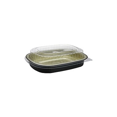 Classic Aluminum Carry-Out Single Serve Foil Base with Dome Lid and Fog-Guard Coating, 100/Case