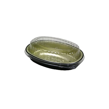 Aluminum Classic Carry-Out Combo Container with Lid, Oval, 100/Case