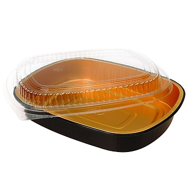 Novelis Large Foil Entree Container with Dome Lid, 11.25