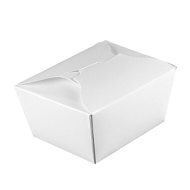 Fold-Pak #1 Biopak Paper Take Out Container, White, 450/Case