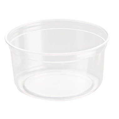 Solo Gourmet Deli Containers, Recycled Polyethylene, 12 oz., Clear, 500/Case