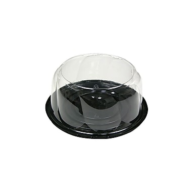 Polyethylene 4In Tall Swirl Dome & Base For 7In Cake, 100/Case