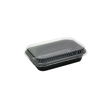Reservations Rectangular Dual Ovenable Combo Cpet Container, 40 oz., Black, 250/Case