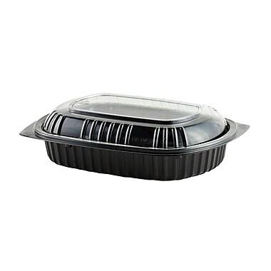 Anchor Polypropylene Container & Polyethylene Lid, 24oz., Black, 125/Case