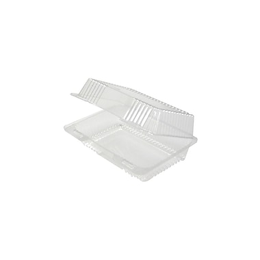 Clearview 1-Compartment Container with Hinged Lid, 9-1/4