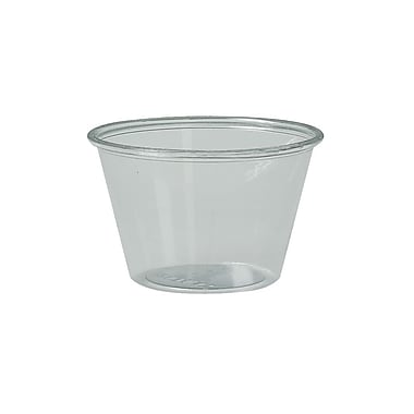 Solo Souffle Portion Plastic Cups, 4 oz., Clear, 2500/Case
