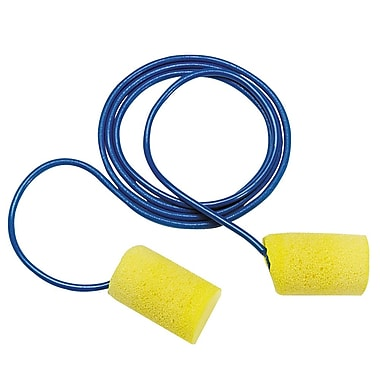 Disposable Foam Ear Plugs With Cord, Aearo Classic Design, 2,000/Case