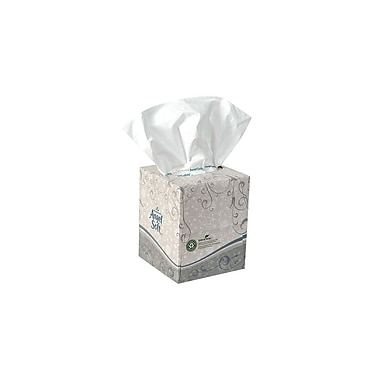 Georgia Pacific Premium Facial Tissue Cube Box, 2-Ply, White, 96 Tissues/Box, 36 Boxes/Case