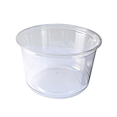 Fabri-Kal Greenware Plastic Cups, 20 oz., Clear, 1000/Case