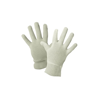 Ronco Ladies Inspection Gloves, Knitwrist, White, 24 Pair/Pack, 600 Pair/Case