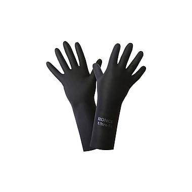 Ronco – Gants en latex Ultra-Fit, TG, taille 10, 28 mil, noir, 12 paires/paq., 144 paires par boîte