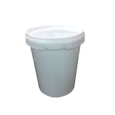 6330000165 High Density Polyethylene Round Snap On Lid, White, 124/Case