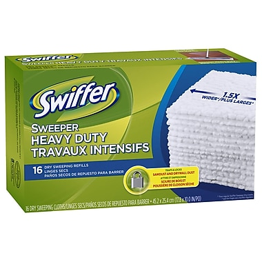 Swiffer Sweeper Heavy Duty Refill Cloths, 16/Pack, 96/Case