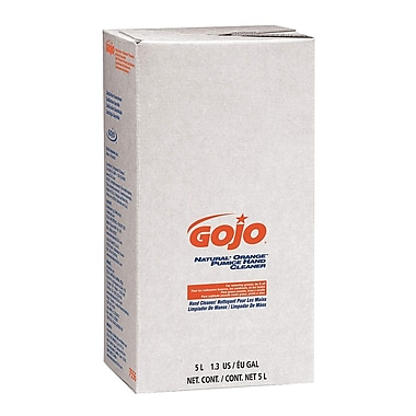 Gojo Natural Orange Pro Bag In Box with Pumice Hand Cleaner, 5000 ML, White, 2/Case