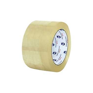 General Purpose Hot Melt Carton Sealing Tape, 72 mm x 132 m, 1.6 Mil, Clear, 24 Rolls/Case