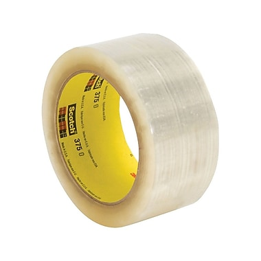 Scotch 375 Superior Performance Box Sealing Tape, 72 mm x 914m, Clear, 4/Case