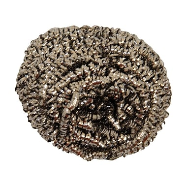 Food Service Stainless Steel Wool Scrubber, 12/Pack, 72/Case