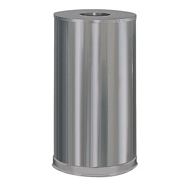 United Recycled Stainless Steel Waste Receptacle, 15 Gallon, 15