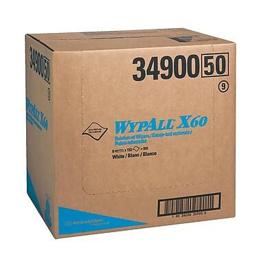Wypall – Essuie-tout renforcés X60, 12 1/2 x 16 8/10 po, blanc, paquet/150, boîte/900