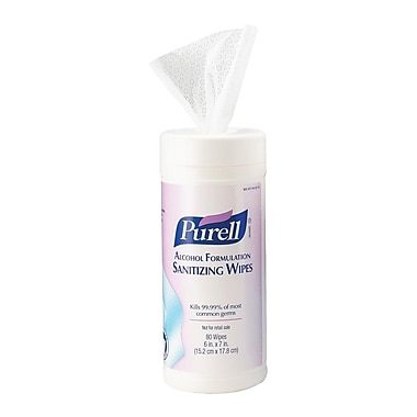 Purell Hand Sanitizing Alcohol Wipes, 80 Wipes/Pack, 960 Wipes/Case