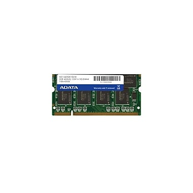 ADATA 1GB DDR SDRAM 400MHz (PC 3200) 200-Pin SO-DIMM (AD1S400A1G3-S)