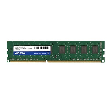 ADATA 4GB DDR3 1333MHz (PC3 10666) 240-Pin U-DIMM (AD3U1333C4G9-2)