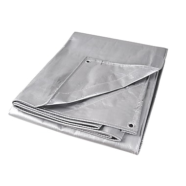 Kleton Polyethylene Tarpaulins, Super Heavy-Duty, 2/Pack