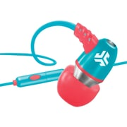 jlab® JBuds® NEON Earbuds With Microphone, Coral/Teal