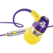 jlab® JBuds® NEON Earbuds With Microphone, Purple/Yellow