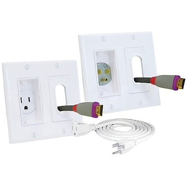 Decor Ingang Of Midlite Double Gang Decor In Wall Power Solution Kit White Staples