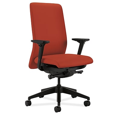 HON Nucleus Upholstered Back Task Chair with Seat Glide Adjustable Arms, Poppy Fabric