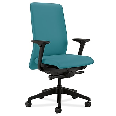 HON Nucleus Upholstered Back Task Chair with Seat Glide Adjustable Arms, Glacier Fabric