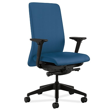 HON Nucleus Upholstered Back Task Chair with Seat Glide Adjustable Arms, Regatta Fabric