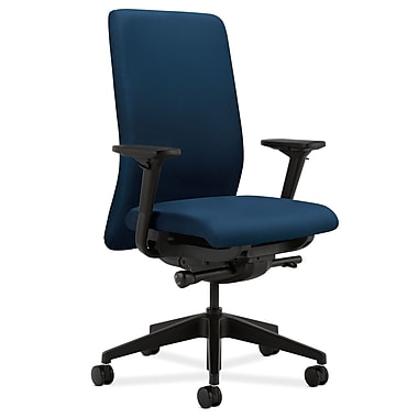 HON Nucleus Upholstered Back Task Chair with Seat Glide Adjustable Arms, Mariner Fabric