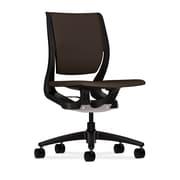 HON® HONRW103ONCU49 Purpose® Fabric Mid-Back Chair, Espresso/Onyx