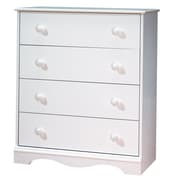 "South Shore™ Heavenly 36"" Laminated Particleboard 4-Drawer Storage Chest, Pure White"