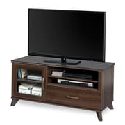 South Shore™ Caraco 23 x 47 x 19 TV Stand With Glass Door, Mocha