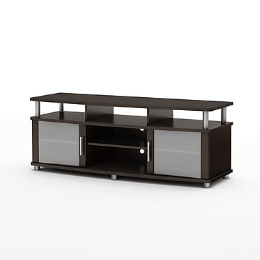South Shore City Life TV Stand for TVs up to 60'', Chocolate , 59.25'' (L) x 19.5'' (D) x 22.25'' (H)