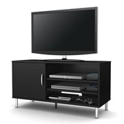 "South Shore™ Renta 24"" x 46"" x 18"" TV Stand With Single Door, Pure Black"