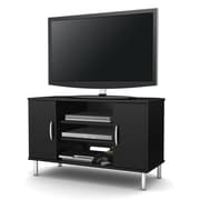 "South Shore™ Renta 24"" x 38"" x 19"" Corner TV Stand with Double Door, Pure Black"