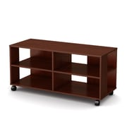 "South Shore™ Jambory 21"" x 46"" x 18"" Storage Unit With Casters, Royal Cherry"