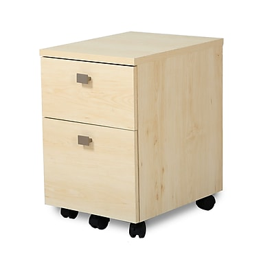 South Shore Interface 2-Drawer Mobile File Cabinet, Natural Maple , 15.75'' (L) x 18.25'' (D) x 20.5'' (H)