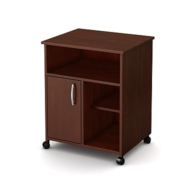 South Shore Axess Microwave Cart with Storage on Wheels, Royal Cherry , 23.5'' (L) x 19.5'' (D) x 29.5'' (H)