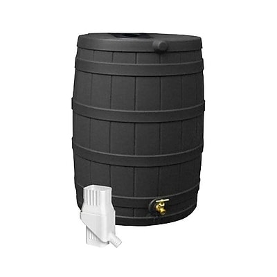 Good Ideas 50 Gallon Rain Barrel Rain Wizard Diverter Kit, Black 1241325